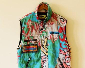 90s Colorful Ski Vest