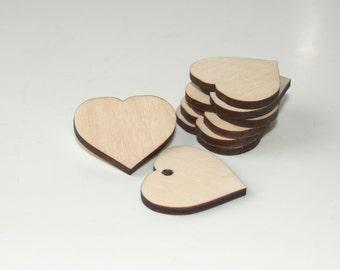 Wedding favors-Heart shape-Wooden heart shape-Wood tags-Heart tags-Wooden shapes-Wedding hearts-Wood heart-Wood heart tags-Heart rustic