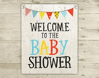 CoEd Baby Shower - Welcome Sign - INSTANT DOWNLOAD