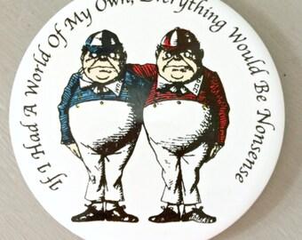 Tweede Dum & Tweedle Dee Ceramic Coaster