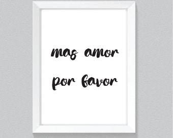 mas amor print