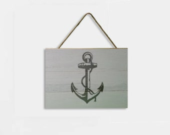 Anchor Stenciled on Reclaimed Pallet Wood