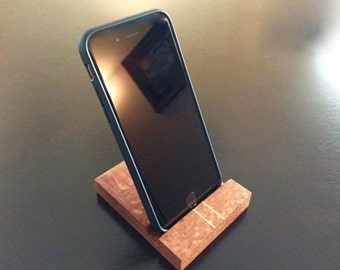 Leopard Wood iPhone cradle