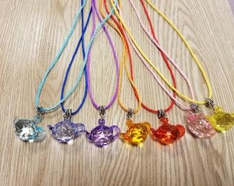 10 Tea Party Necklaces party favors