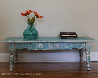Small distressed table