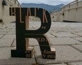 Cardboard letter R