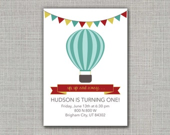 Hot Air Balloon Invitation