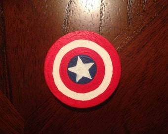 Captain America Vs. Iron Man Double Sided Wooden Coin
