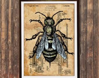 Steampunk Bee Art Etsy