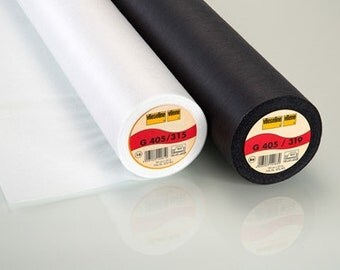 Fusible interlining G405 vliseline, black , white, vliseline, lining, woven