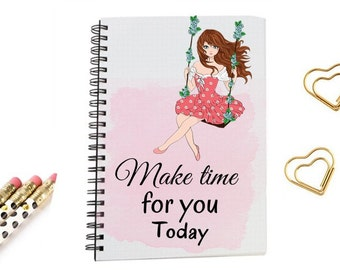 Journal Notebook, Motive quotes size 5x8