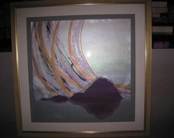 Paper mixed media artwork
