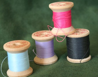 Vintage Belding Corticelli Sewing Thread on Wooden Spools
