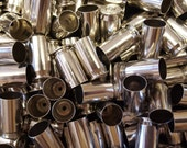 45 ACP Once Fired Nickel Plated Brass 250 + Pieces. This brass is great for reloading, jewelry making and other crafts.