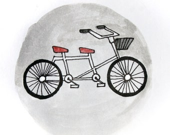 Bicycle for Two in Gray