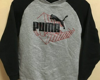 Vintage 90's Puma Sport Classic Design Skate Sweat Shirt Sweater Varsity Jacket Size S #A320