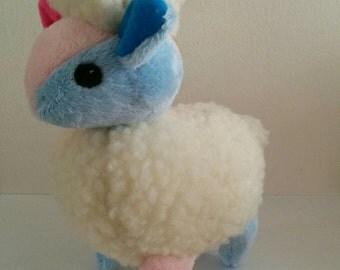 Pastel Blue and Pink Bicoloured Sheep Plushie