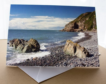 Saint Ninian's Cave near Whithorn Greetings Card (A5) Dumfries and Galloway Scotland Photograph