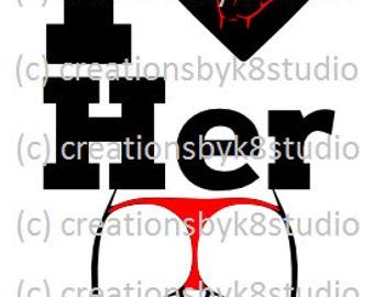 SVG - couple SVG - I love her butt SVG