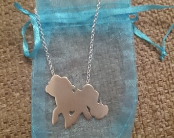 Sterling silver my little pony necklace