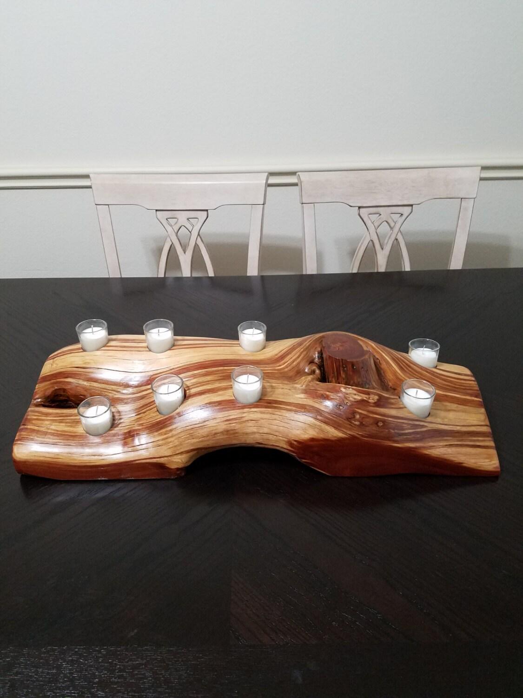 Tea light candle holder tealight centerpiece rustic candle for Picture frame candle centerpiece