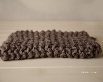 Brown/Stone chunky mini blanket