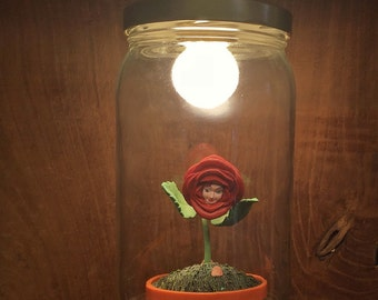 The little Prince pink lamp made with recycled materials