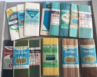 Lot of Vintage Seam Binding Wright's Boiltex Penney's New Old Stock NOS