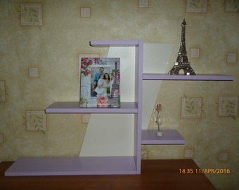Small Bookshelf, Purple Bookcase, Purple and White, Kids Room Furnature,Home Living Furnature