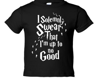 HARRY POTTER YOUTH Shirt. I Solemnly Swear I Am Up To No Good Youth Shirt. Cute Funny Humor Shirt. More Colors Available!