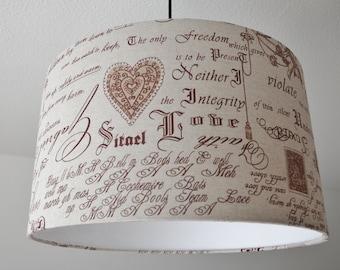 "Ceiling lamp ""love story"""