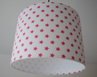 "Lampshade ""Stars"" (pink)"