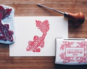 Lucky Koi - Original Handprint