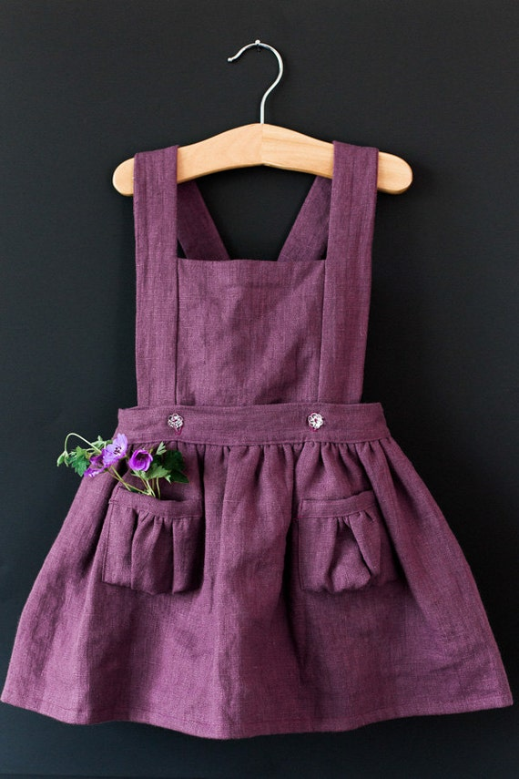 Items Similar To Ayla Toddler Pinafore Dress Vintage