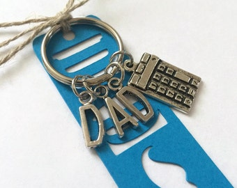 Fathers Day Gift Keychain Keyring