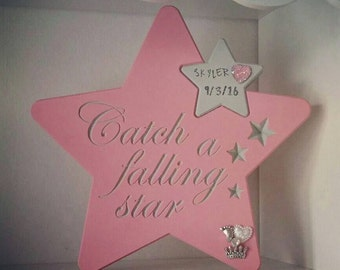 Wooden Star New Baby/Christening Gift