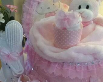 Baby girls soft lacey crib