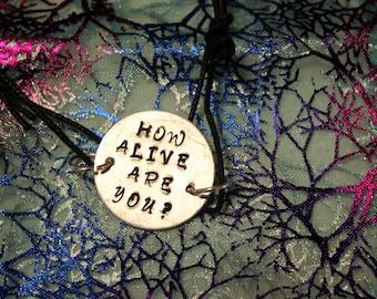 How Alive Are You? Aesop Rock stamped bracelet