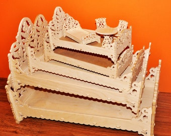 1/6 scale bed for 12 inch or 14 inch fashion doll such as Barbie size