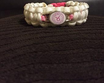 Taurus zodiac paracord bracelet