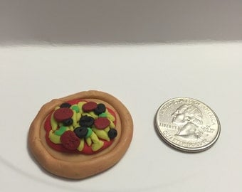 Tiny Pizza Clay Charm