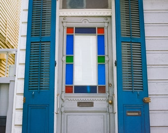 New Orleans French Quarter Stained Glass Door