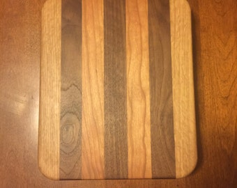 Oak Walnut and Cherry 10x12 Cutting Board
