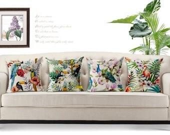 Hand Printed Decorative Linen Cotton Pillow Case