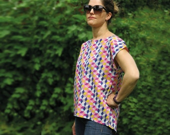 MissFrida - Airy, woven summer blouse