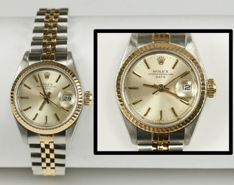 Ladies Rolex 18K Stainless 69173 Date