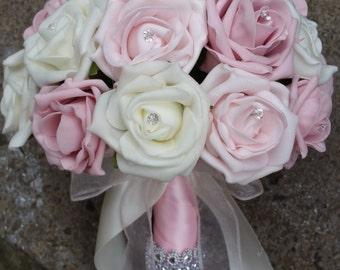 Round bride bouquet