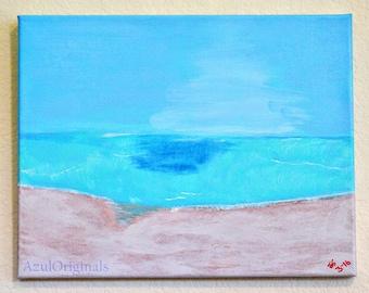 """The Beach an 11""""x14"""" Acrylic Escape"""