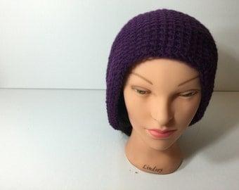 Purple Tunisian handmade hat