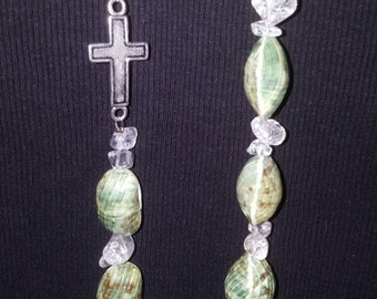 Sea Shells with glass chips and a cross